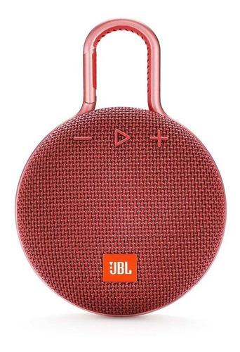 Parlante JBL Clip 3 portátil con bluetooth fiesta red