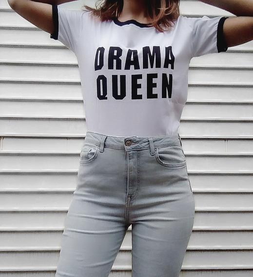 Camiseta T-shirt Feminina Tumblr Drama Queen