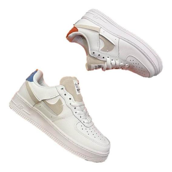 Tenis Nike Air Force One Nueva Edicion Mujer 70% Descuento