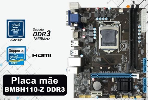 Placa Mae Bmbh110-m Bulk Ddr3 1151p Bluecase - 16gb / Vga /