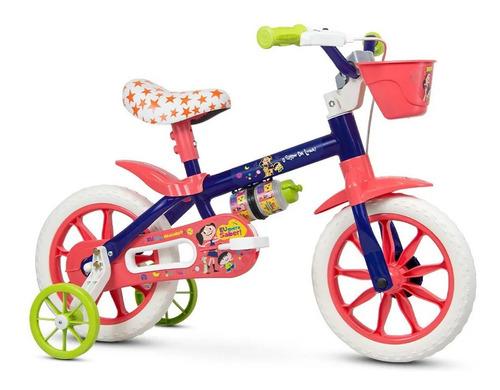 Bicicleta Bike Infantil Menina Aro 12 Nathor Show Luna