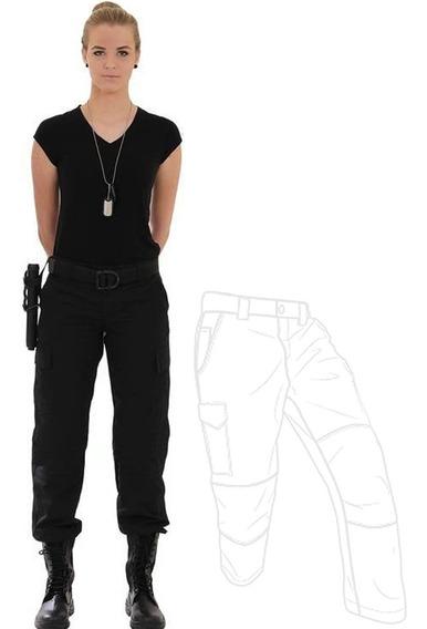Calça Airsoft Ripstop Feminina Costura Dupla 6 Bolsos Top