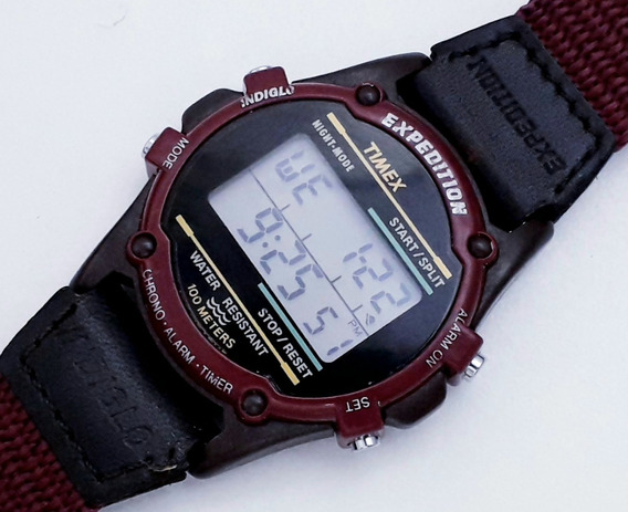 Relógio Timex Expedition Indiglo Coleção Raro - Década De 90