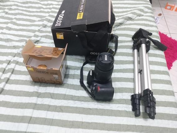 Câmera Nikon D3100, Com Lente Nikkor 18-55 + Tripé 120alt.