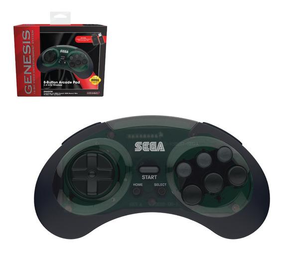 Controle Retrobit Mega Drive Genesis Sem Fio 2,4ghz - Usb