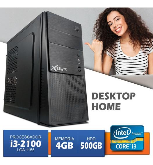 Computador Desktop Cpu 1155 I3 2100 Ddr3 4gb Hd 500gb Xlinne