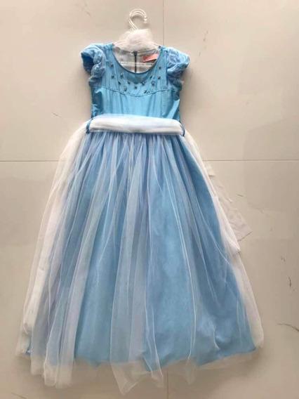Lindo Vestido De Festa Da Pituchinhus Cinderella! Tamanho 8!