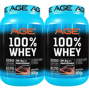 Combo [2x] 100% Whey (900g) [total 1,8kg] - Nutrilatina Age
