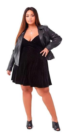Vestido Forever Velvet Fit Flared Dress Plus Size 2x 3x