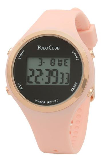 Reloj Dama Mano Digital Polo Club Mujer Rosa Rlpc2968c