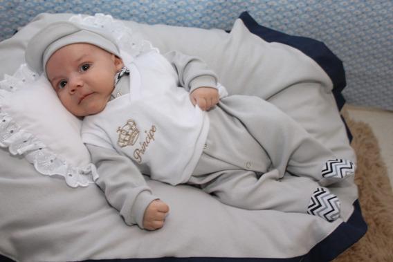 Saída De Maternidade Menino Zig Zag Gabriel 5 Peças Cor 6
