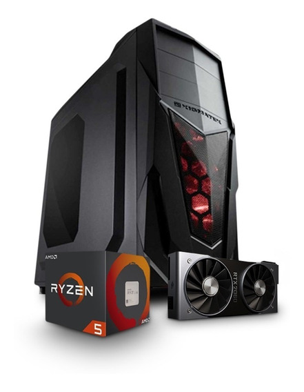 Pc Gamer Cpu Ryzen 5 2600 + 16gb Ddr4 + A320m + Rtx 2060 6gb