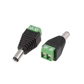 Conector Ficha Jack Power Macho Plug 5.5x2.1 Mm A Bornera