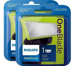 2 Refil Lamina One Blade Refil Original Philips Oneblade 2un