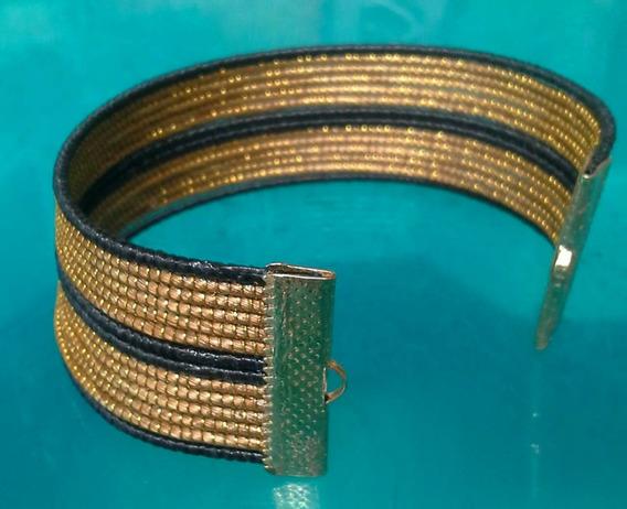 Pulseiras Lisa 02 Em Capim Dourado Kit Com 50 Und