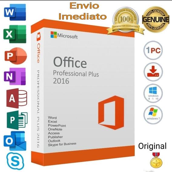 Pacote Office 2016 Pro Plus + Licença 25 Digitos Vitalicio!!