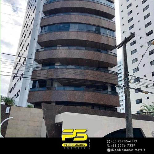Apartamento Com 4 Dormitórios À Venda, 282 M² Por R$ 1.000.000 - Cabo Branco - João Pessoa/pb - Ap3134