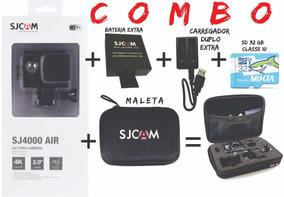 Combo Sjcam Sj4000 Air 4k +bateria Extra+maleta+sd 32gigas