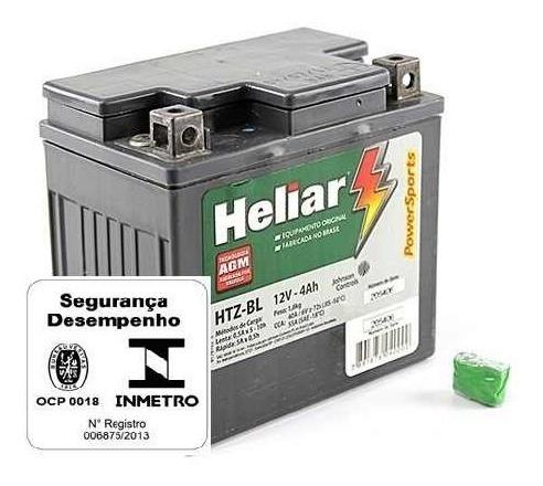Bateria De Moto Heliar Htz5l 12v 4ah Cg125/150 Biz/100/125