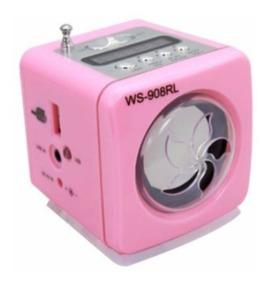 Mini Caixinha Som Ws-908 Rádio Fm Usb Sd P2 Mp3 Portátil