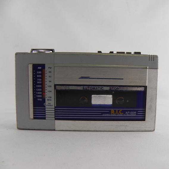 Gravador Fita K7 Ric Af150r Rádio Am/fm - Usado C/ Defeito