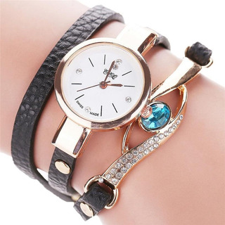 Reloj Pulsera Cuero Diamante