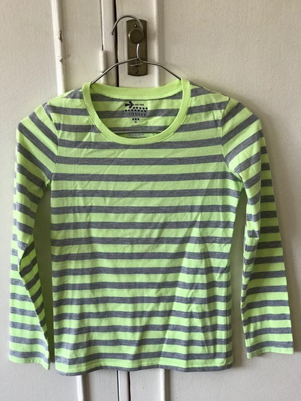 Remera Old Navy De Niña Rayada Talle 8 De Usa - 7581