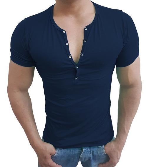 Camiseta Masculina Slim Fit Pres Segunda Pele Viscolycra Mc