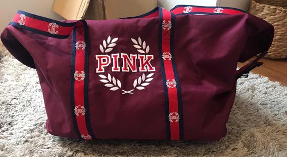 Bolsa Sacola Vinho Com Emblema Pink