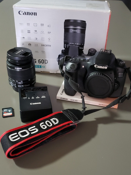 Canon Eos 60d + Lente Canon 18-55mm Is