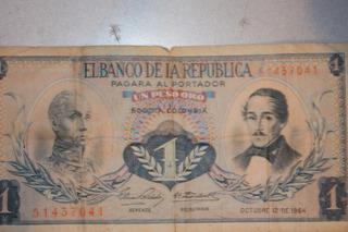 Billete Un Peso Oro De Colombia
