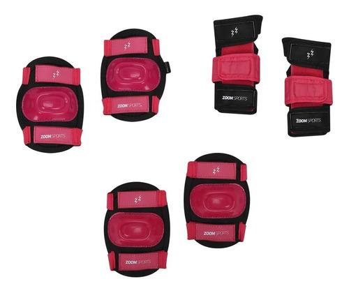 Equipo Protección Zoom Impact Negro Rosado