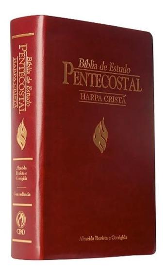 Bíblia De Estudo Pentecostal Harpa Cristã Vinho