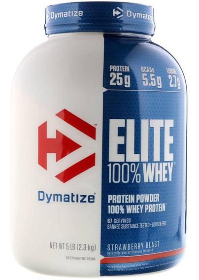 Proteina Dymatize Elite Whey 100% 5 Lbs Sabor Fresa