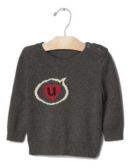 Sueter Gap Infantil Menino Blusa Frio Canguru Sweater Baby