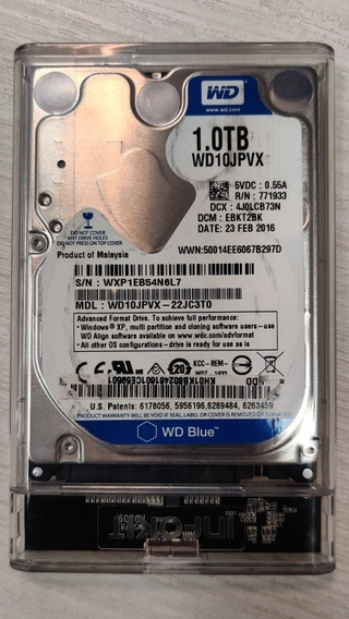 Hd Externo Mecânico Western Digital Wd Blue 2.5 1tb 5400rpm
