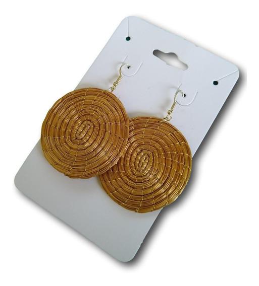 Brinco Mandala De Capim Dourado Ref: 0032