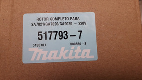 Rotor / Induzido Para Esmerilhadeiras Makita De 7