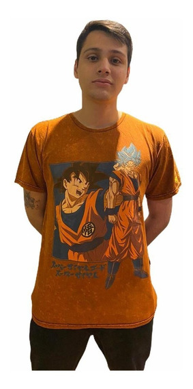 Camiseta Dragon Ball Super Goku Blue Azul Piticas Original