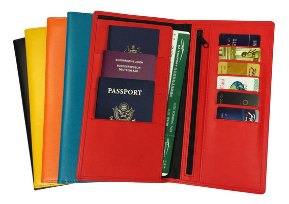 Portapasaporte Vinilico Grande Verage Varios Colores (vg5031