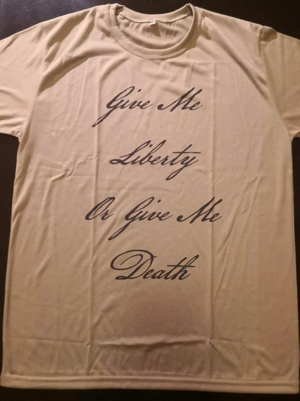 Remera Give Me Liberty - Liberalismo - Verde Talle M