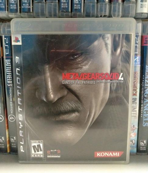 Metal Gear Solid 4 Ps3 Completo   Parcelamento Sem Juros