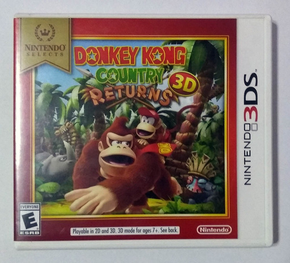 Donkey Kong Country Returns 3d Nintendo 3ds Usado