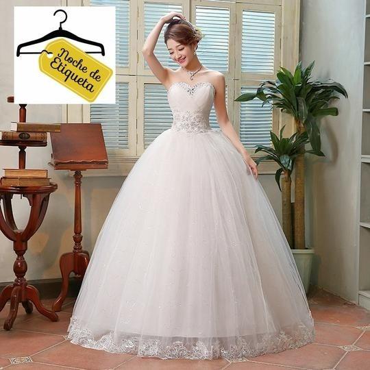 Renta Vestido Novia Nuevo Strapless Blanco/marfil