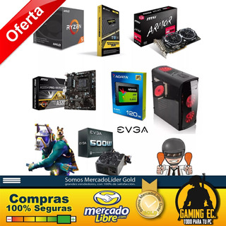 Pc Ryzen 5 2600 Rx580 8gb Ram8gb Ssd Para Gaming Y Diseño