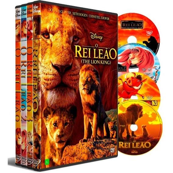 Dvd Box O Rei Leão 4 Filmes Dual Áudio