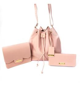 Bolsa Feminina Saco Kit Conjunto 3 Peças Sara+ana+carteira##