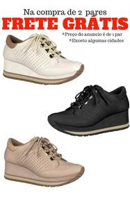 Tenis Sneaker Feminino Flatform Anabela Dakota G0531