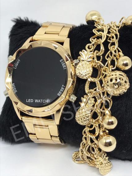 Kit 5x Relógios Feminino Digital Com Pulseira E Caixa + 5x Relógios Masculino Com Caixa Aproveite