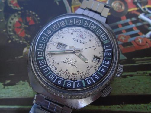 Orient Wd World Diver 70's Cal 1942  2 Janelas Garantia